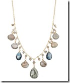 Labradorite and Blue Topaz Necklace