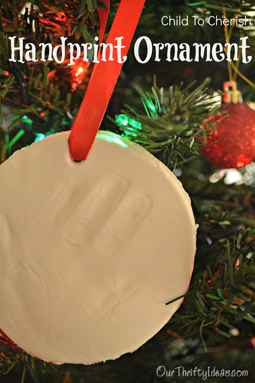 Our Thrifty Ideas: Child to Cherish Personalized Handprint Ornament