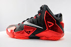 nike lebron 11 gr black red 5 05 New Photos // Nike LeBron XI Miami Heat (616175 001)