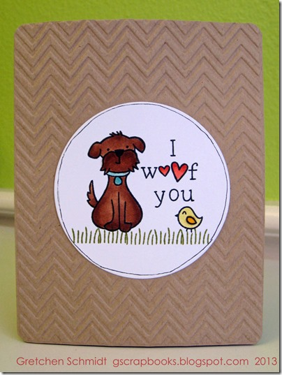 Lawnscaping Challenge #58 | I woof you card by @gscrapbooks