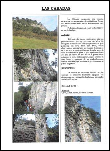 Croquis Las Cabadas (Arenas de Cabrales, Asturias) Info