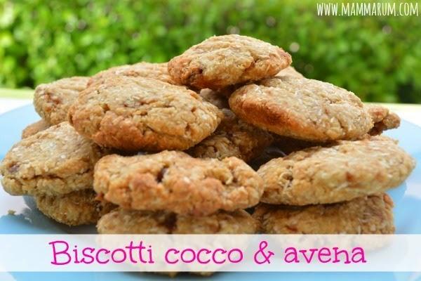 ricetta biscotti cocco e fiocchi di avena