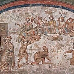 144 Catacumbas Domitila Banquete Justos Anunciación.jpg