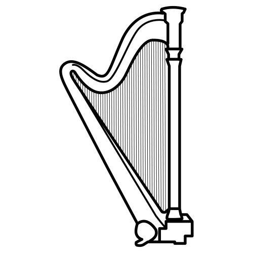 Dibujo de una arpa - Imagui