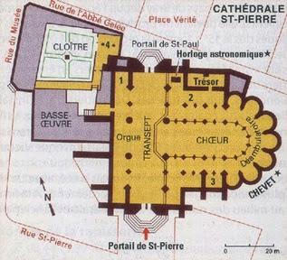 plan cathédrale de Beauvais