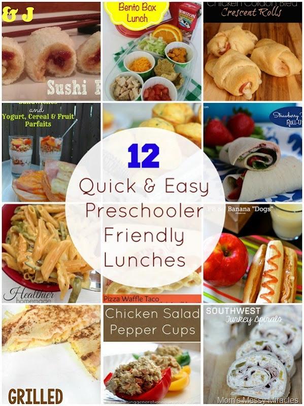 12 Preschooler Friendly Lunches