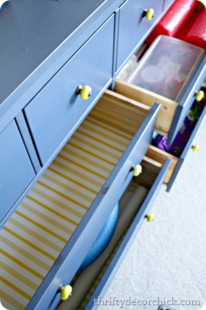using dresser for organization