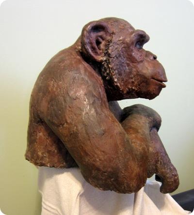 papier machechimpanzee