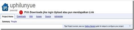 mengupload file di Google code