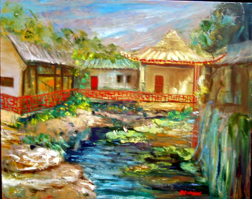 Fisherman's Garden Oil, 24 x 30 $720.00