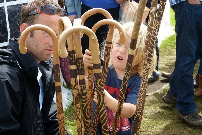 Bushcraft show, walking sticks