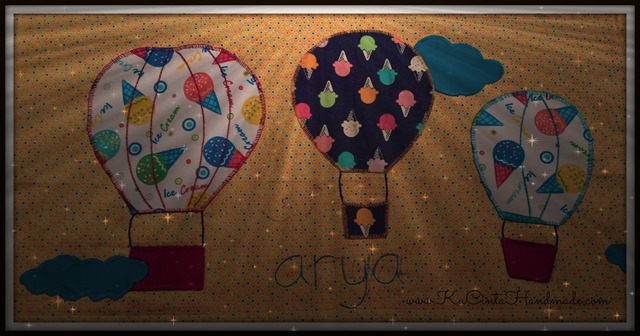 Sarung bantal cinta aplikas balon udara