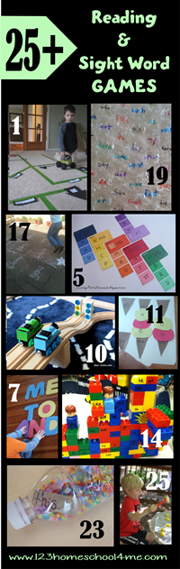 25+ Reading Games and Sight Word Activities