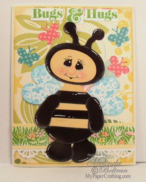 bee bugs hugs card 500