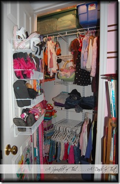 Child Closet Before {A Sprinkle of This . . . . A Dash of That}