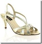 Marta Mid Heel Gold Sandal