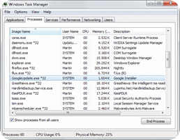 GoogleUpdate.exe-processes in Task Manager