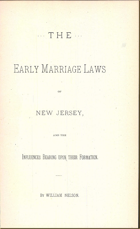New Jersey, Marriage Records, 1683-1802 15