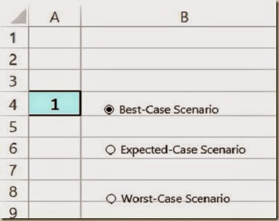 Scenario Analysis in Excel - Renaming Option Buttons