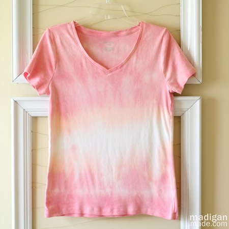 dip dyed ombre shirt craft