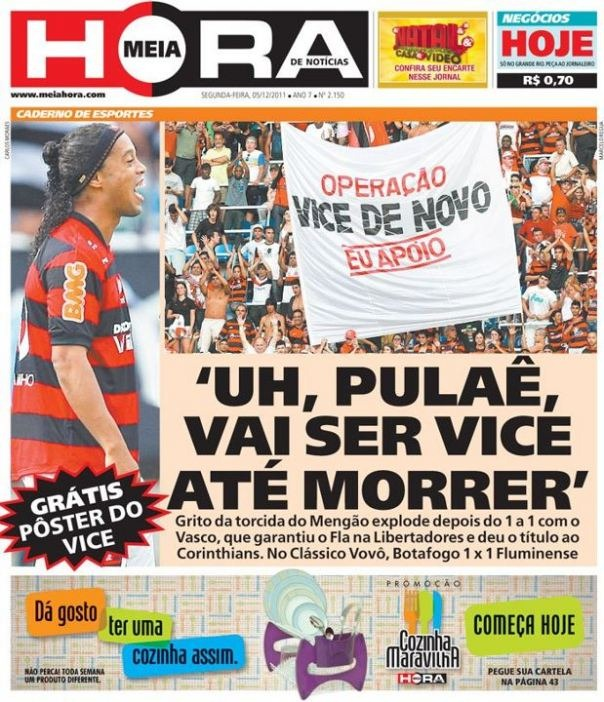 Jornal do Rio noticiando o novo Vice do Vasco com humor