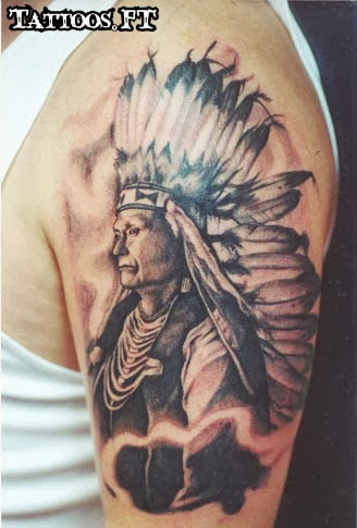 the gallery for indian chief tattoo meaning. Black Bedroom Furniture Sets. Home Design Ideas