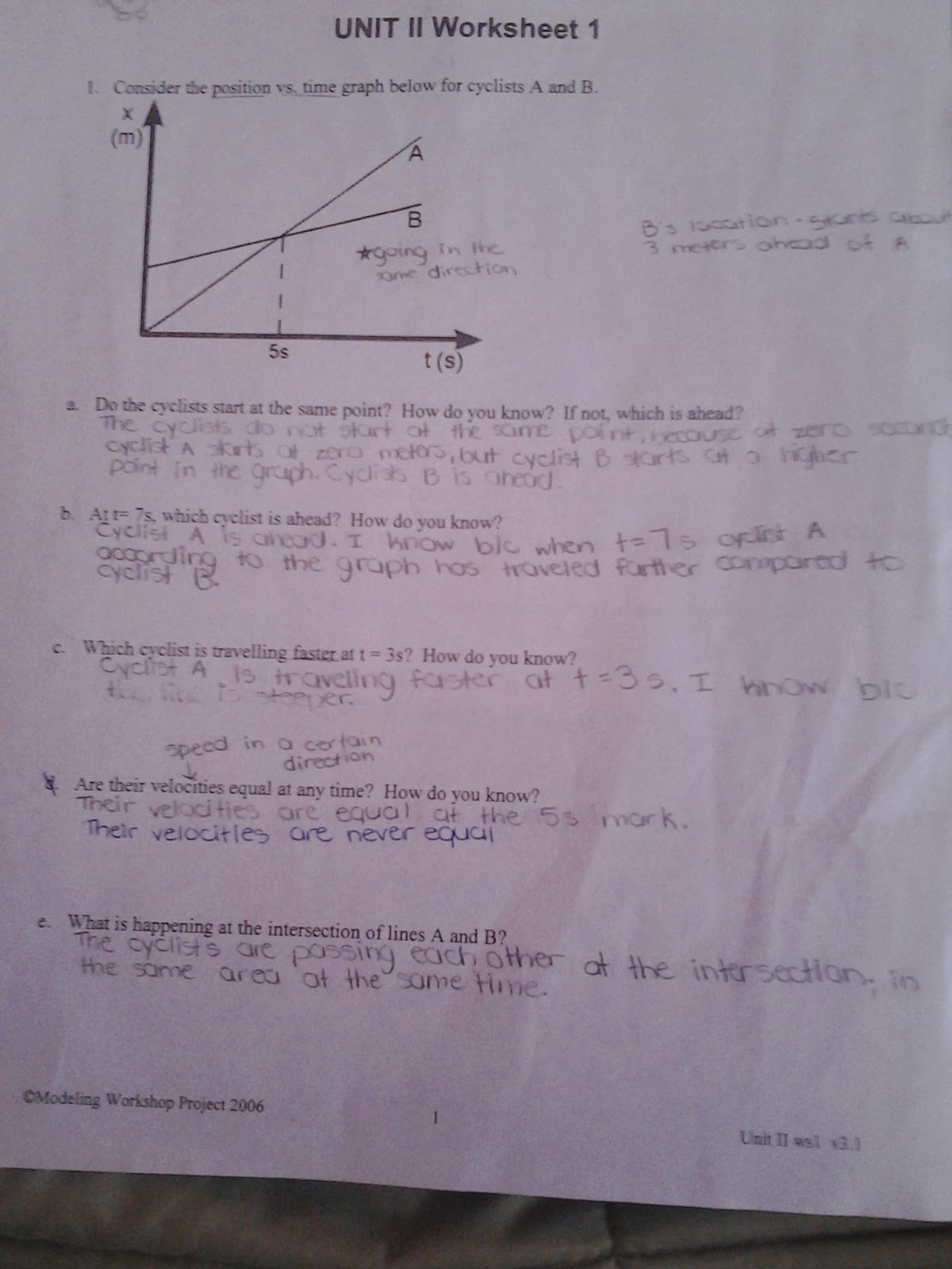 Wonders of Physics November 2013 – Velocity Time Graph Worksheet Answers