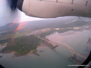 Bridge of the Americas from prop plane