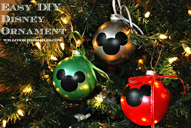 DIY Easy Disney Ornament 3ed