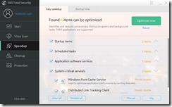 يحتوى برنامج Total Security 360 خاصية تسريع الجهاز حيث يقوم بتقديم المقترحات لجعل حاسوبك أسرع
