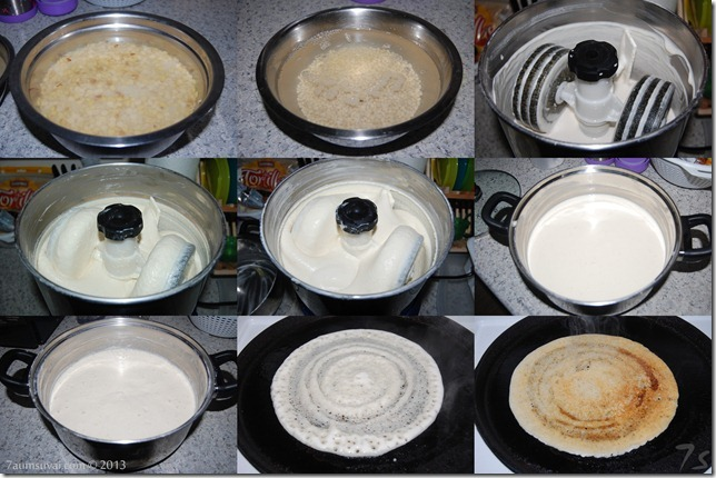 Red gram dosai process
