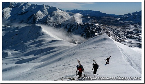 Arista Este al Peyreget 2487m y Corredor Este con esquis (Portalet) (Fede) 0034