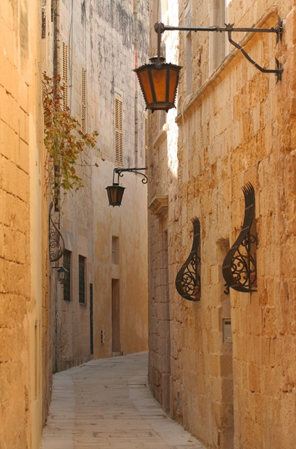 Narrow streets of Mdina Malta