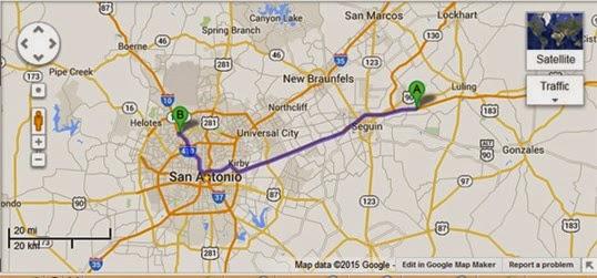 San Antonio Map