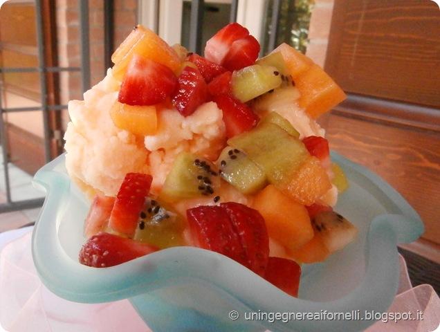 gelato melone senza panna gelatiera frutta yogurt sorbetto