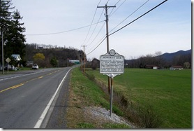 Jackson Home and Howard's Lick marker along Route 259 looking north.