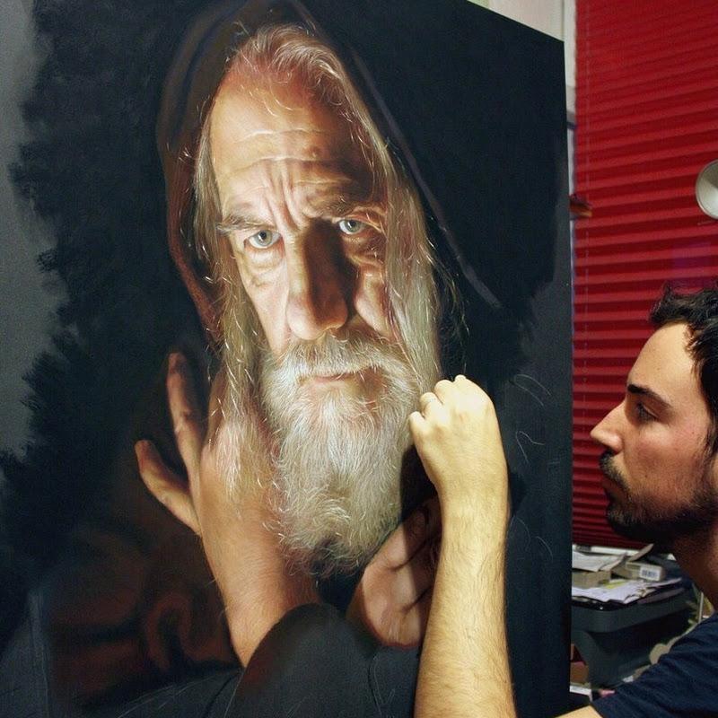 Hyper Realistic Pastel Portraits by Ruben Belloso Adorna