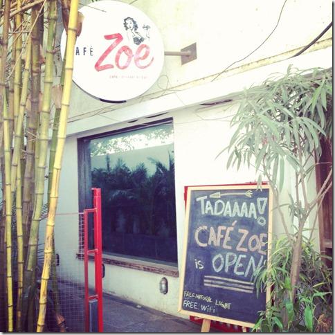 cafe zoe entrance