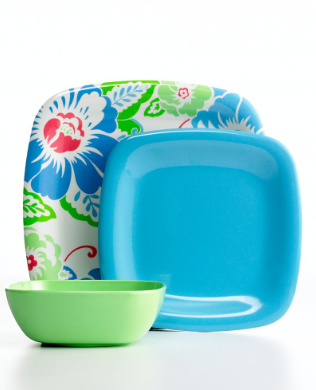 Bright, colorful, sturdy tableware is a must-have for summer entertaining. Martha Stewart Collection. (macys.com)