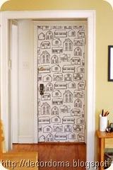 Декор межкомнатных дверей своими руками 5