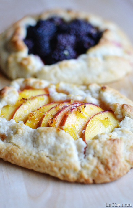 blackberries and peaches