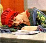 Carrossel - Vexame Matilde dorme de pijama na sala de aula003