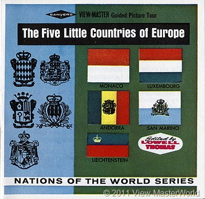 View-Master The Five Little Countries of Europe (B149), Booklet Cover
