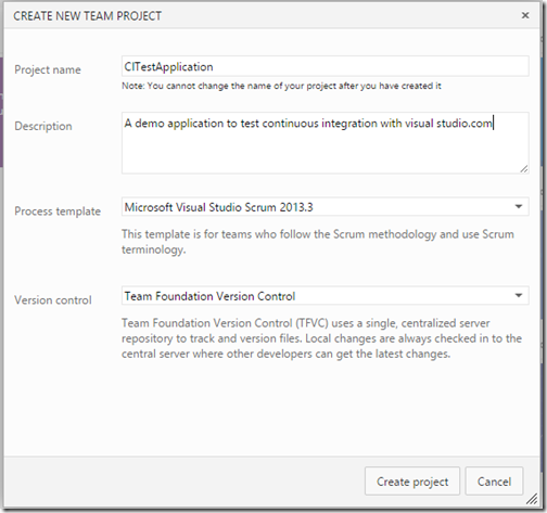 Create new project template in visualstudio.com