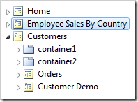 """The """"Employee Sales By Country"""" page has been placed second in the site menu."""