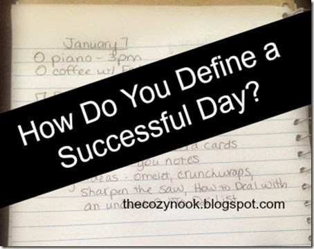 How Do You Define a Successful Day - The Cozy Nook