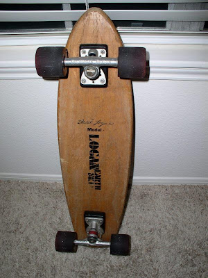 This board was given to Brad by Stuart Glasscock who flew out to San Diego from Texas just to give him one of his models as Brad did not have one of his old designs.