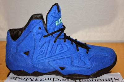 nike lebron 11 nsw sportswear ext blue suede 3 12 Nike LeBron XI EXT Blue Suede Sample   Up Close & Personal