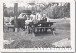 The Debs Webster Family Stopping for a Picnic Meal in 1952