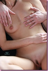 hands on breasts